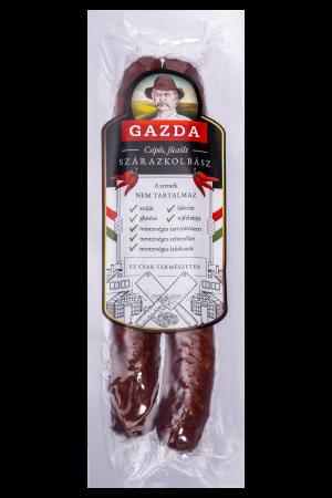 GAZDA csomagolt csípős, füstölt szárazkolbász (0.27 Kg)